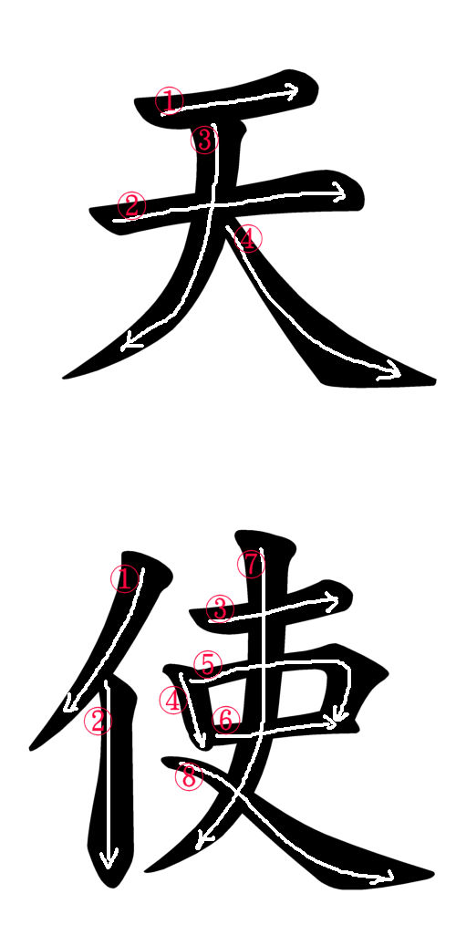 Japanese Kanji For Angel Japanese Word Characters And Images