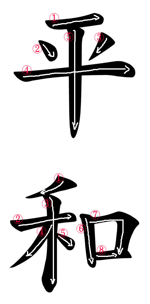 Image Of Japanese Kanji For Peace Japanese Word Characters And Images