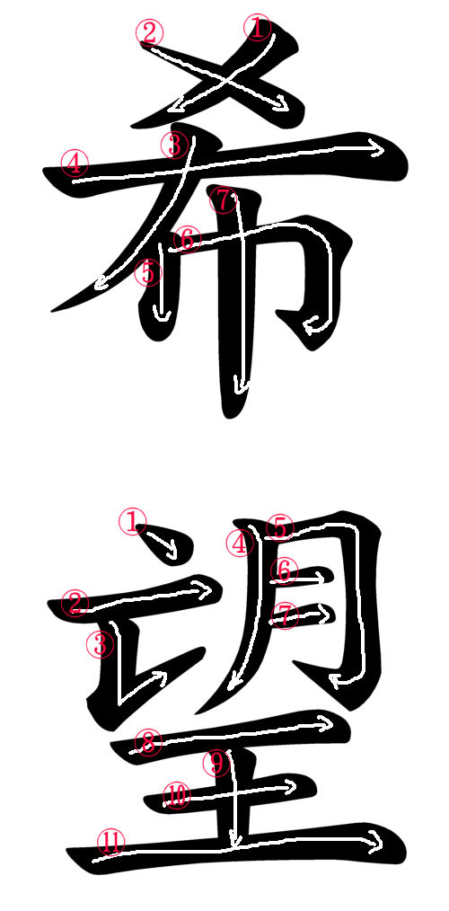 Japanese Kanji And Image For Hope Japanese Word Characters And Images