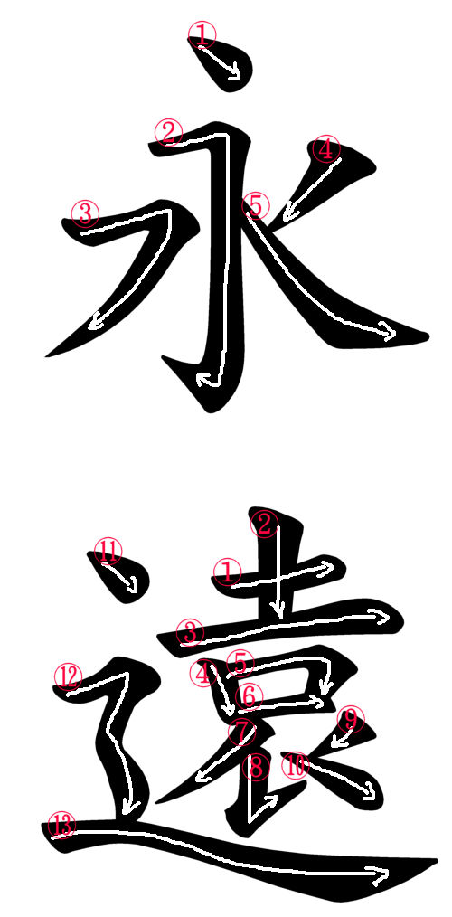 Japanese Word Images For Forever Or Eternity
