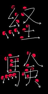 Kanji Stroke Order for 経験