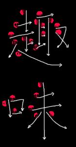 Kanji Stroke Order for 趣味