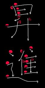 Kanji Stroke Order for 昇進