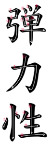 Kanji Writing Stroke Order for 弾力性
