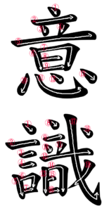 Kanji Writing order for 意識
