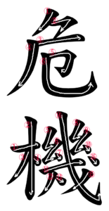 Kanji Writing Order for 危機