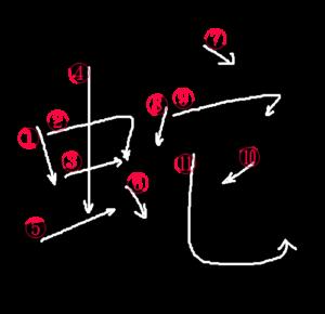 Kanji Stroke Order for 蛇