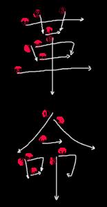 Kanji Stroke Order for 革命