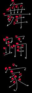 Kanji Stroke Order for 舞踊家