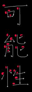 Kanji Stroke Order for 可能性