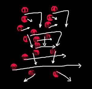 Kanji Stroke Order for 翼