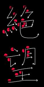 Stroke Order for 絶望