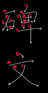 Stroke Order for 碑文