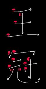 Stroke Order for 王冠