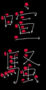Stroke Order for 喧騒