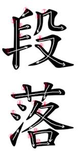 Japanese Word for Paragraph
