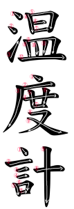 Japanese Word for Thermometer