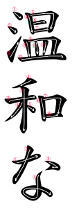 Japanese Word for Gentle