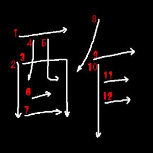 """Jouyou Kanji """"酢"""" Stroke Order"""