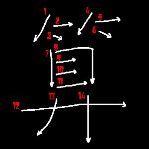 """Jouyou Kanji """"算"""" Stroke Order"""