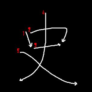 """Jouyou Kanji """"史"""" Stroke Order"""