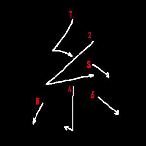 """Jouyou Kanji """"糸"""" Stroke Order"""