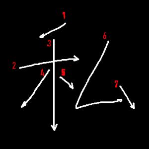 """Jouyou Kanji """"私"""" Stroke Order"""