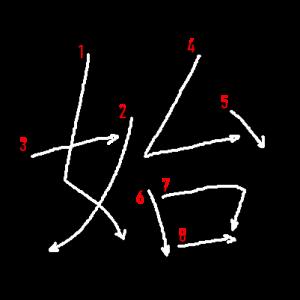 """Jouyou Kanji """"始"""" Stroke Order"""