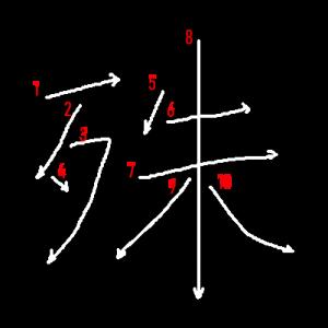 """Jouyou Kanji """"殊"""" Stroke Order"""