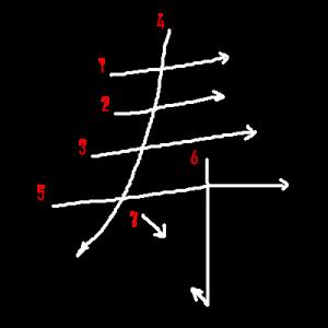 """Jouyou Kanji """"寿"""" Stroke Order"""