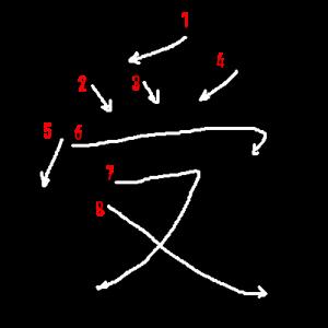 """Jouyou Kanji """"受"""" Stroke Order"""