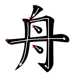 """Jouyou Kanji """"舟"""" Stroke Order"""