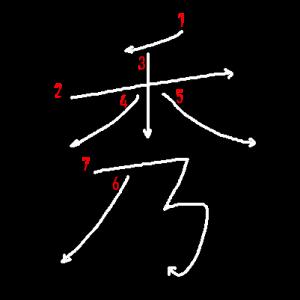 """Jouyou Kanji """"秀"""" Stroke Order"""