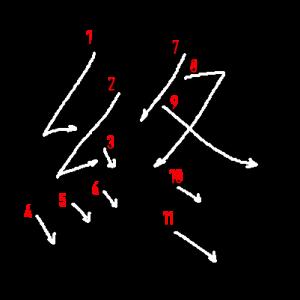 """Jouyou Kanji """"終"""" Stroke Order"""