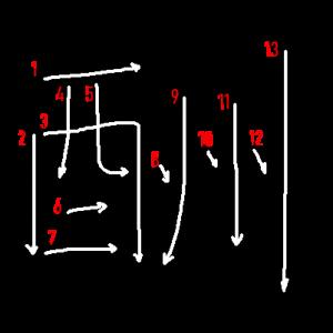 """Jouyou Kanji """"酬"""" Stroke Order"""