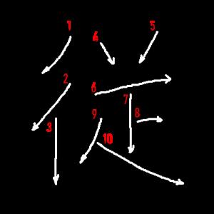 """Jouyou Kanji """"従"""" Stroke Order"""