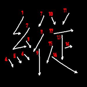 """Jouyou Kanji """"縦"""" Stroke Order"""