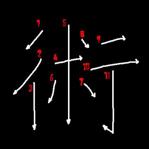 """Jouyou Kanji """"術"""" Stroke Order"""