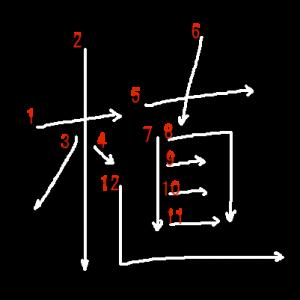"""Jouyou Kanji """"植"""" Stroke Order"""
