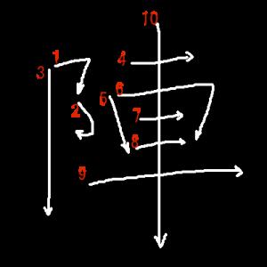 """Jouyou Kanji """"陣"""" Stroke Order"""