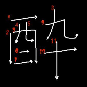 """Jouyou Kanji """"酔"""" Stroke Order"""