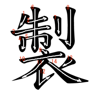 """Jouyou Kanji """"製"""" Stroke Order"""