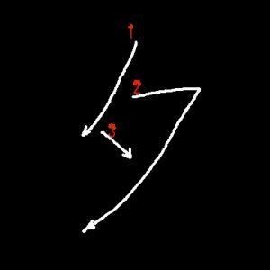 """Jouyou Kanji """"夕"""" Stroke Order"""