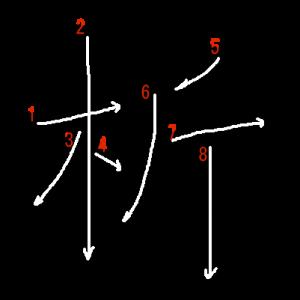 """Jouyou Kanji """"析"""" Stroke Order"""