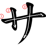 """Katakana """"サ-sa"""" Stroke Order"""