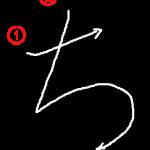 """Hiragana """"ち-chi"""" Stroke Order"""
