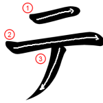 "Katakana ""テ-te"" Stroke Order"