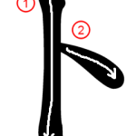 """Katakana """"ト-to"""" Stroke Order"""