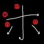 """Katakana """"ホ-ho"""" Stroke Order"""