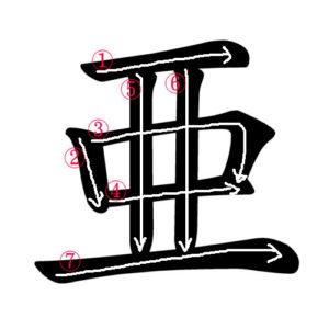 Japanese Kanji 亜